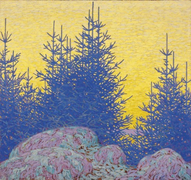 Lawren Harris, Decorative Landscape, 1917, National Gallery of Canada Beyond Stars Mystical Landscape