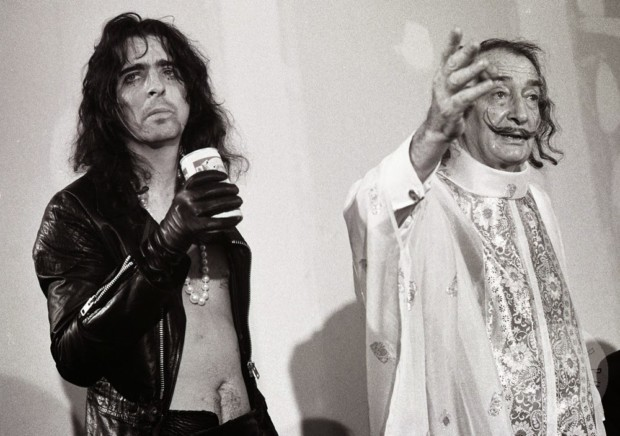 Salvador Dali weird Salvador Dali and Alice Cooper