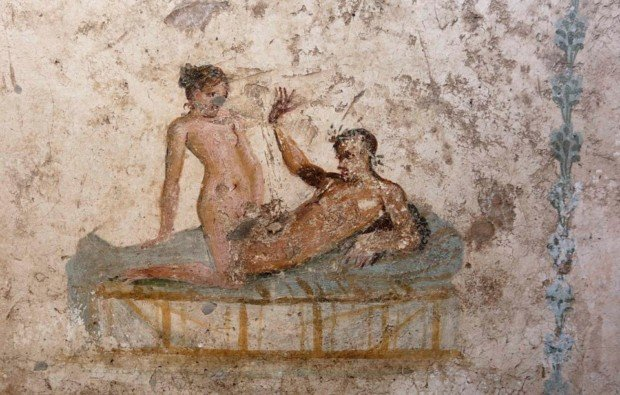 Scene from the Lupanar Erotic Art Pompeii Herculaneum
