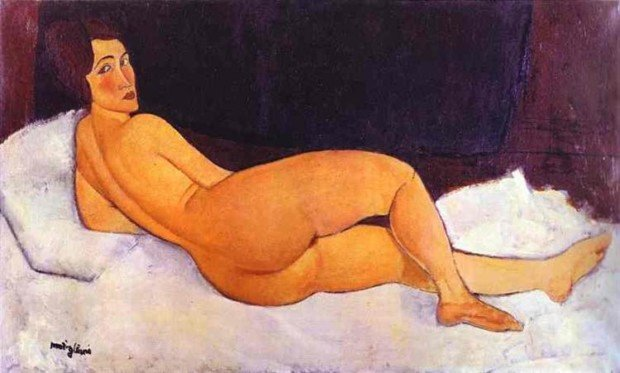 Amedeo Modigliani, Nude Looking Over Her Right Shoulder, 1917, Private Collection nudes modigliani nudes
