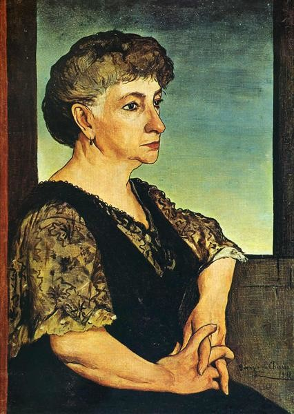 Giorgio de Chirico, Portrait of artist's mother, 1991 mother's day famous mothers art