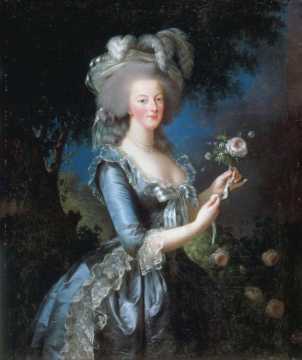 Louise Élisabeth Vigée Le Brun, Marie Antonine in a muslin dress, 1783, National Gallery in Washington DC. Portraits Marie Antoinette