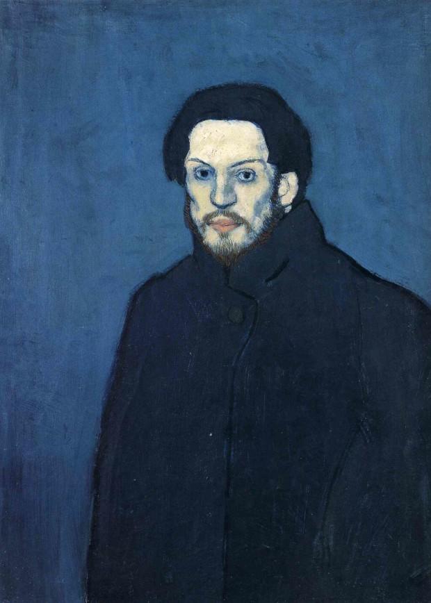 Pablo Picasso, Self-portrait, 1901, Musée Picasso, Paris Picasso Blue Period