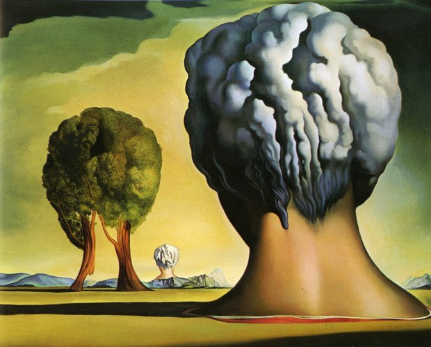 Salvador Dali, The Three Sphinxes of Bikini, 1947, Morohashi Museum of Modern Art, Fukushima