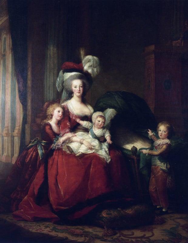 Portraits of Queen Marie Antoinette: Élisabeth Louise Vigée-LeBrun, Portrait of Marie Antoinette with Her Children, 1787, Musée National du Château de Versailles Portraits Marie Antoinette