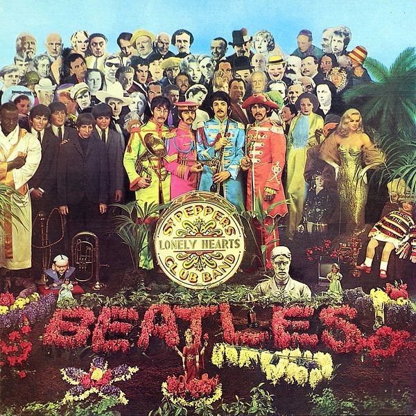 Peter Blake, Sgt. Pepper's Lonely Hearts Club, 1967, Sourve: V&A , album covers art