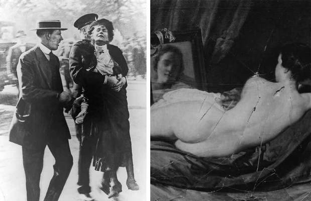 Scandalous Nudes Art The arrest of Mary Richardson and the painting after her attack