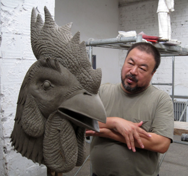 Ai Weiwei and the rooster. Pinterest.