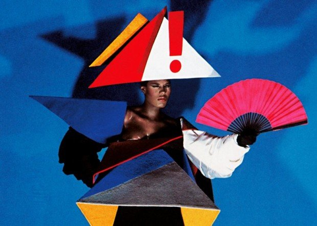 Grace Jones in a maternity dress designed by Jean-Paul Goude and Antonio Lopez, 1979 © Jean-Paul Goude, grace jones art