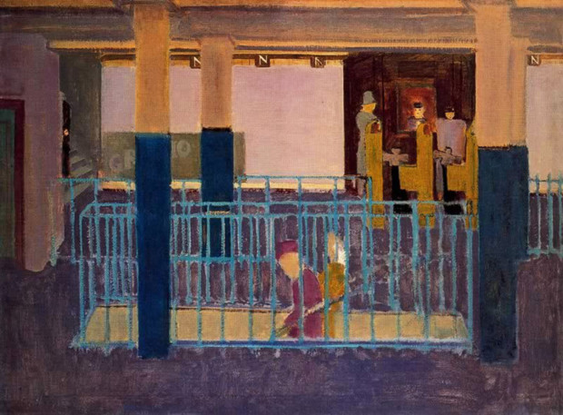 paintings New York Mark Rothko, Entrance to Subway [Subway Scene],1938, Collection of Kate Rothko Prizel