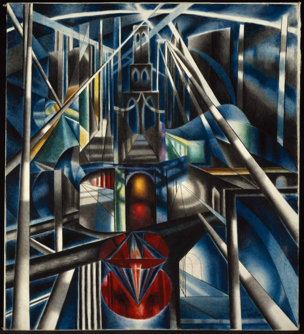 paintings New York Joseph Stella, Old Brooklyn Bridge. about 1941, Museum of Fine Arts, Boston