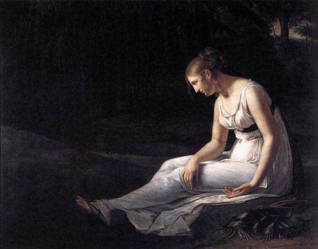 Constance Marie Charpentier (1767–1849), Melancholy, 1801. Oil on canvas. Musée de Picardie, Amiens