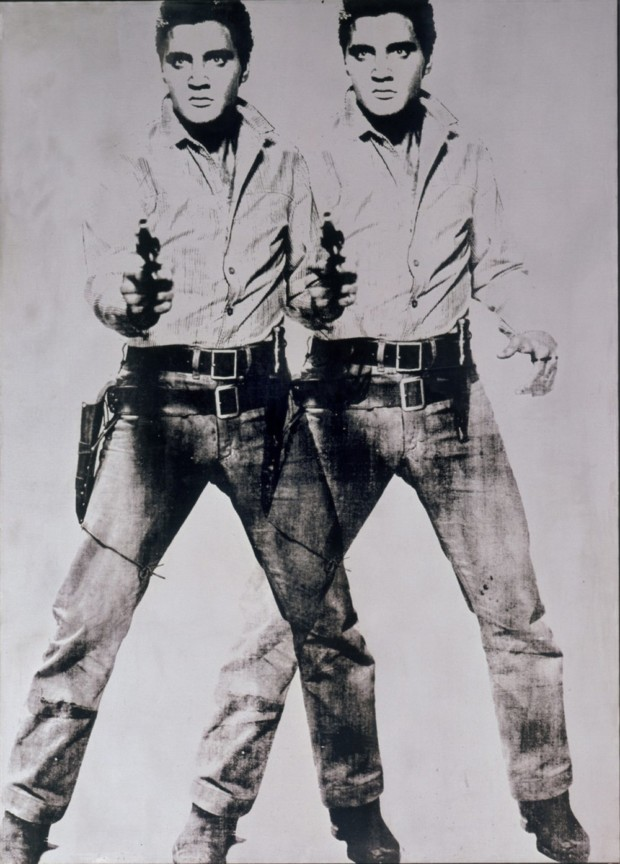 Museum Ludwig Pop Art Andy Warhol, Two Elvis, 1963, silkscreen on canvas, 206 x 148 cm, Andy Warhol Artwork, © The Andy Warhol Foundation for the Visual Arts, Inc., Photo: Rheinisches Bildarchiv Köln