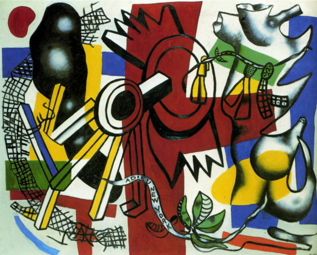 paintings New York Fernand Leger, New York good-bye, 1946, private collection