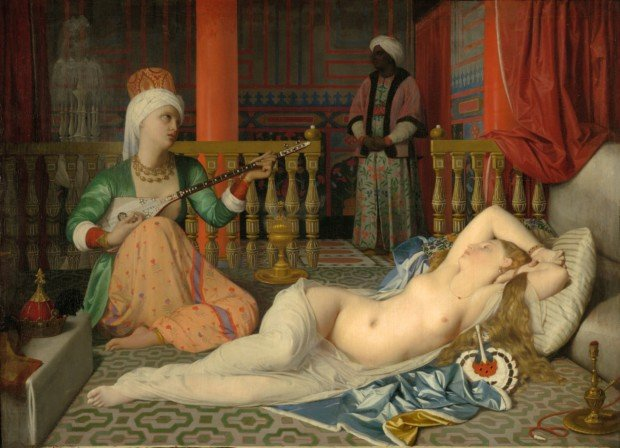 Reclining nude Jean-Auguste-Dominique Ingres, Odalisque with a Slave, 1842, Harvard Art Museums/Fogg Museum, Cambridge, Massachusetts