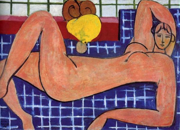 Reclining nudethe pink nude, Henri Matisse, 1935