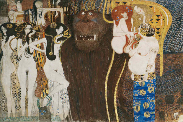 Klimt Beethoven Frieze the-hostile-forces-the-beethoven-frieze-klimt-1902