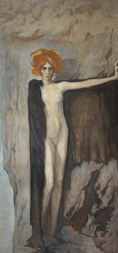 Romaine Brooks, Portrait of Luisa Casati, 1920, luisa casati