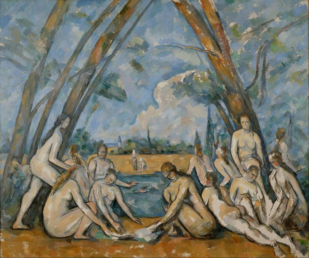 Bathing In Art Paul Cezanne; The Large Bathers, (1900) © National Gallery, London