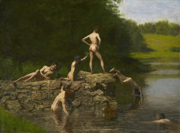 Thomas Eakins, Swimming, 1885, Oil on canvas, Amon Carter Museum of American Art, Fort Worth, Texas