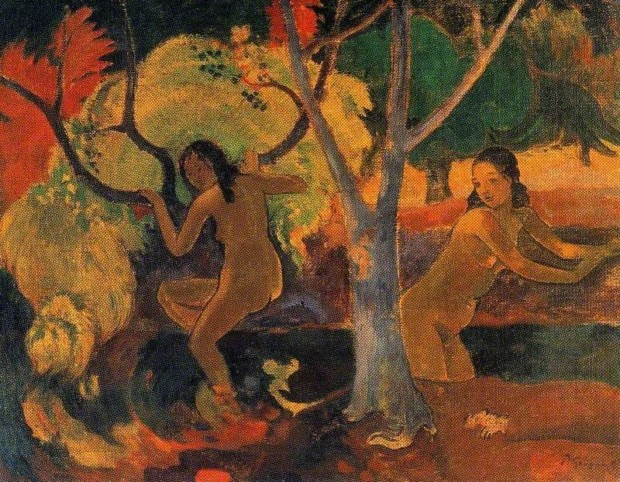 Bathing In ArtGauguin, Paul; Bathers in Tahiti; The Barber Institute of Fine Arts, Birmingham, England