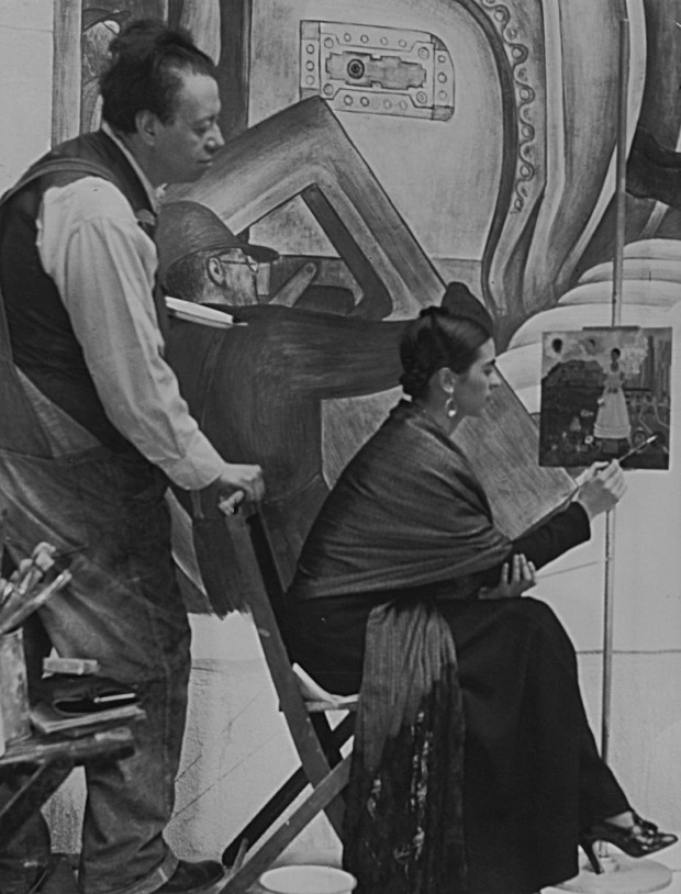 Diego Rivera and Frida Kahlo in Detriot, 1933, Courtesy of Spencer Throckmorton Collection, New York