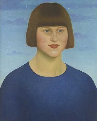 Dora Carrington Mark Gertler, Portrait of a Girl Wearing a Blue Jersey (1912) @Edgar Estaire Collection