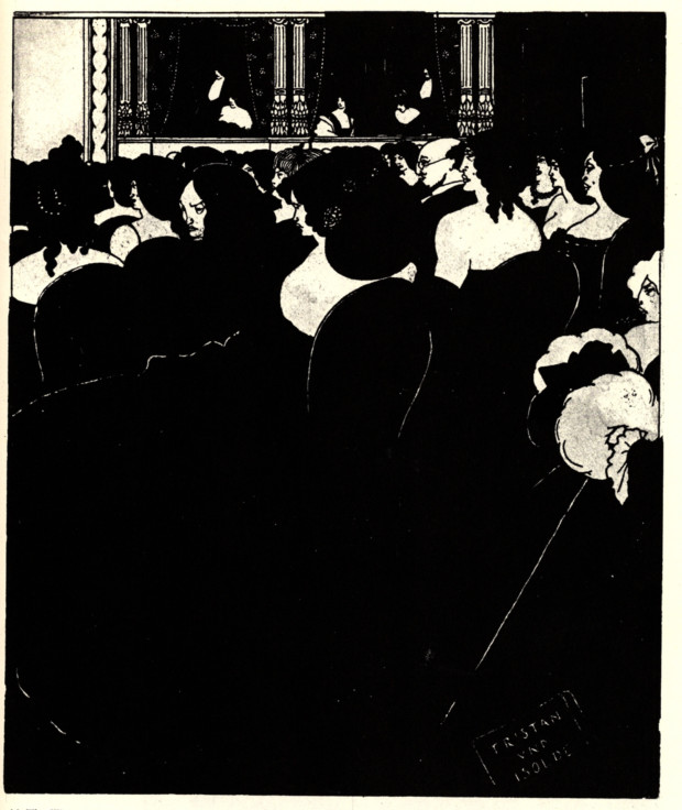 Aubrey Beardsley. The Wagnerites (1894). The V&A Museum.