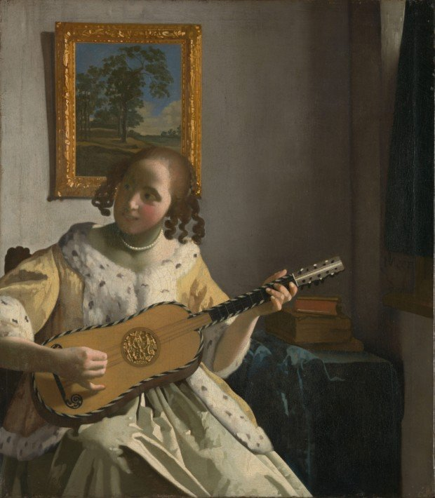Johannes Vermeer (1632-1675). The Guitar Player (c. 1672). Iveagh Bequest, Kenwood, London.