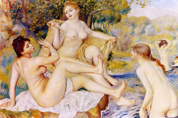 Bathing In Art Pierre-August Renoir; The Large Bathers, (1887) © Philadelphia Museum of Art