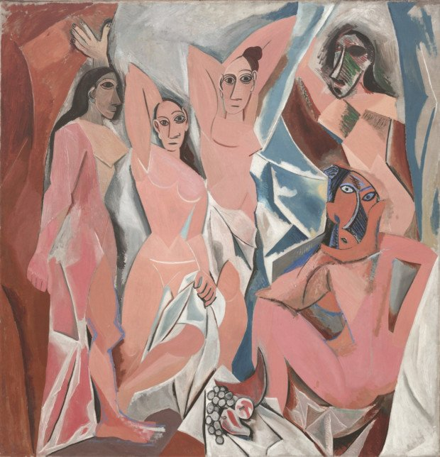 Scandalous Nudes Art Pablo Picasso, Les Demoiselles d'Avignon, (1907) © Museum of Modern Art, New York