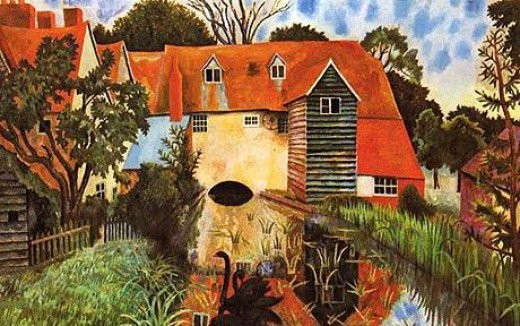 Dora Carrington The Mill at Tidmarsh (1918) @Tate, London