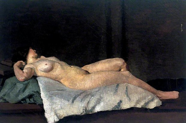 Dora Carrington Female figure lying on her back (1912) ©University College London Art Museum