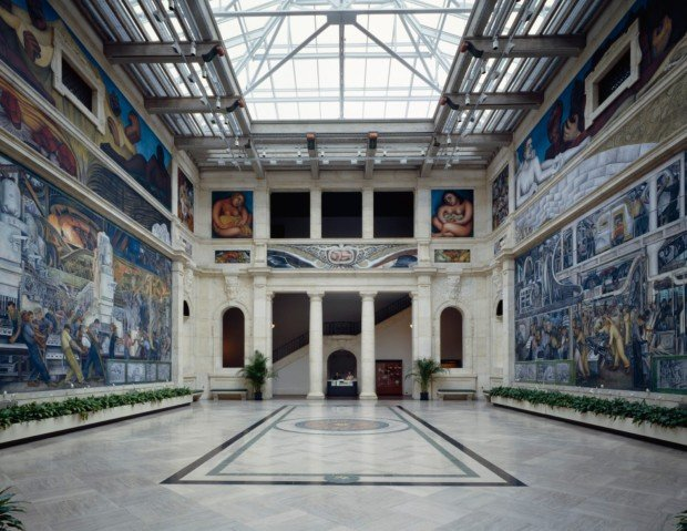 diego rivera detroit Rivera Court, Detroit Institute of Arts
