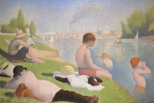 Bathing In Art Georges Seurat; Bathers at Asnieres, (1884),© National Gallery, London