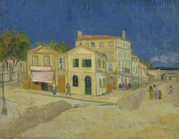Summer Destinations Inspired By Paintings:  Vincent van Gogh, The Yellow House (The Street), 1888, Van Gogh Museum, Amsterdam (Vincent van Gogh Foundation), summer destinations