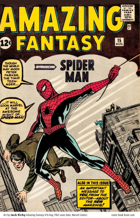 Amazing Fantasy 15 cover, Jack Kirby, 1962, Marvel