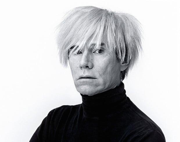 B945H6 Andy Warhol, artist, portrait, himself, white background Andy Warhol surgery