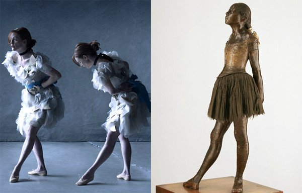 Julianne Moore Peter Lindbergh Julianne Moore by Peter Lindbergh as Little Dancer, Aged Fourteen by Edgar Degas.