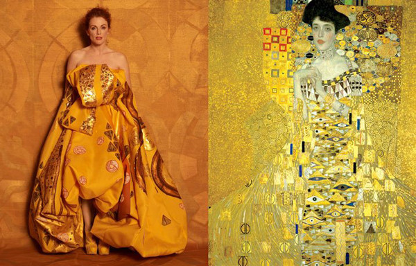 Julianne Moore Peter Lindbergh Julianne Moore by Peter Lindbergh as Adele Bloch Bauer I by Gustav Klimt for Harper's Bazaar.