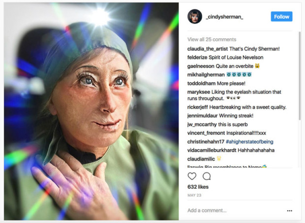 cindy sherman instagram