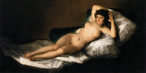 francisco goya paintings francisco goya modernist Francisco de Goya The Nude Maja (La Maja Desnuda) 1799-1800 Museo del Prado, Madrid