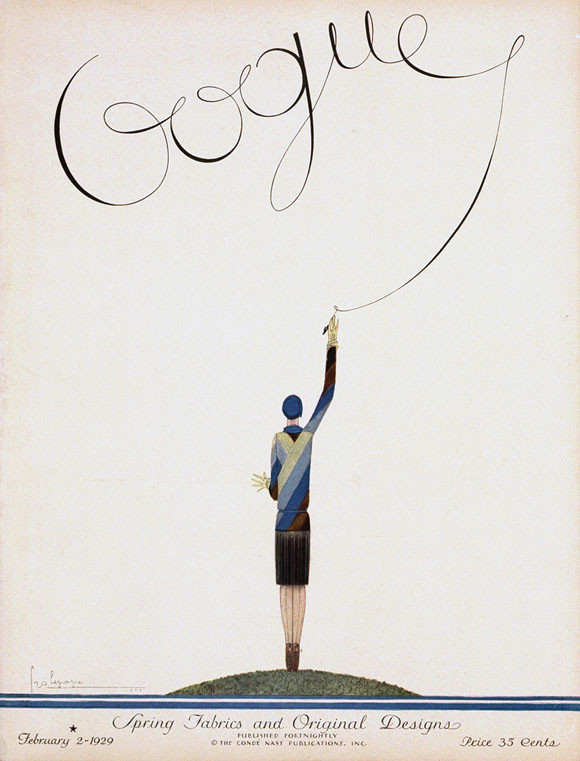 George Lepape, Vogue cover, February 1929 issue, 1929.