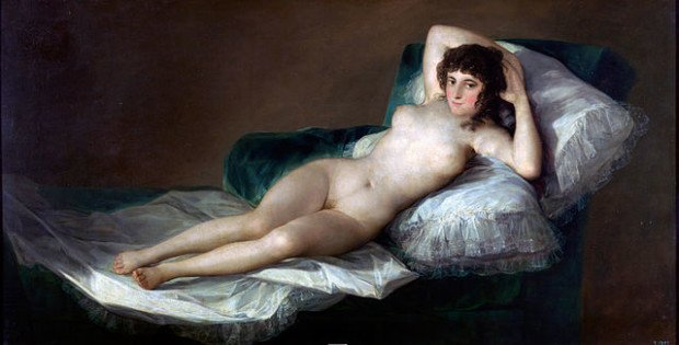 Scandalous Nudes Art Francisco de Goya, The Nude Maja, between circa 1795 and circa 1800, Museo del Prado