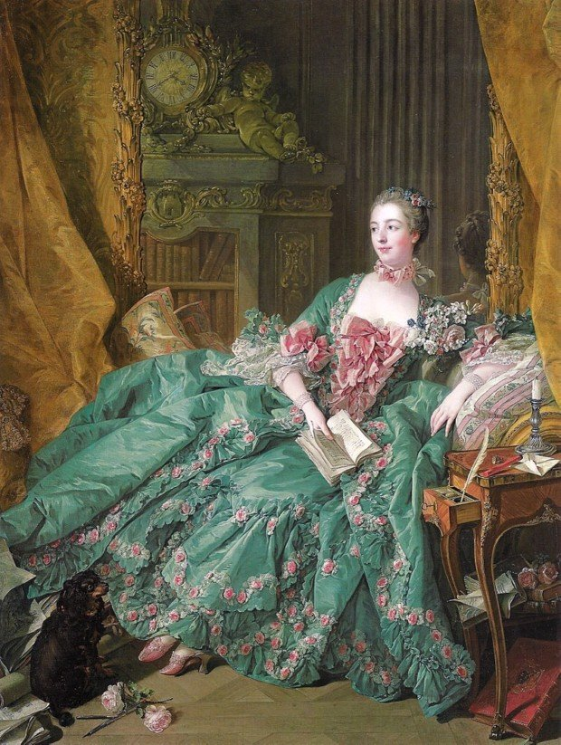 Madame de Pompadour, Francois Boucher, 1756, Alte Pinakothek, Munich, Germany, how did women dress in the 18th century