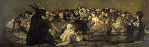 francisco goya paintings francisco goya modernist Francisco de Goya Witches Sabbath (The Great He-Goat) 1820-23 Museo del Prado, Madrid
