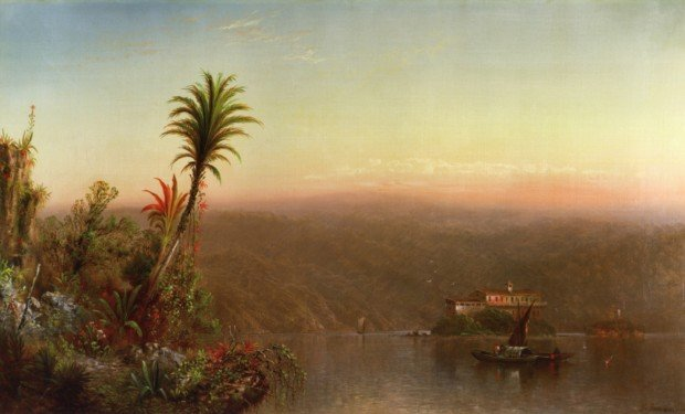hudson river school female painters Elizabeth Gilbert Jerome; Tropical Sunset; 1870; private collection