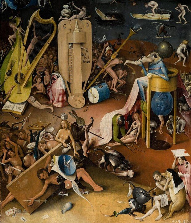 Hieronymus Bosch, The Garden of Earthly Delights, Museo Nacional del Prado, detail