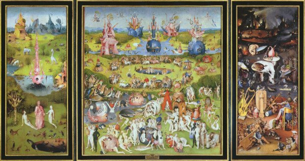 Hieronymus Bosch, The Garden of Earthly Delights, Museo Nacional del Prado