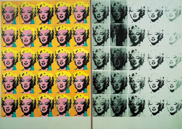 Marilyn Monroe in art Marylin Monroe in art Andy Warhol Marilyn Diptych (1963) © Tate, London